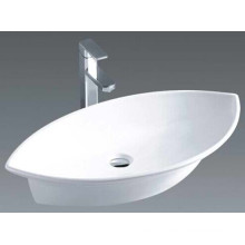 Bathroom Oval Ceramic Above Counter Basin Sink (7093)