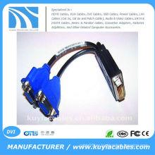 Cable de división DVI 59 PIN TO 2 DUAL VGA FEMELLE SPLITTER