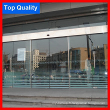 Frameless Stainless Cover Hotel Porte automatique