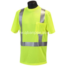 High-Visibility pocket T-Shirt with Moisture Wicking