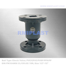 PP Ball Check Valve Flange PN10