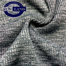 tejido melange 95 polyester 5 spandex 2x2 tejido de punto acanalado