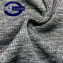 Tissu jersey tubulaire côtelé à la mode mélange 95 polyester 5 spandex 2x2