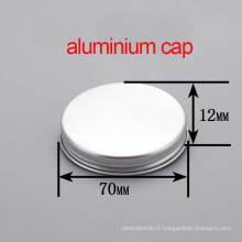 68/410 Coussin à la crème Rond en aluminium, bouchon et couvercle métallique à vis métallique