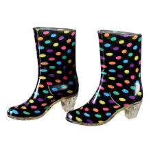 Ladies and Fashion High Heel Rainboots, Rain Shoes