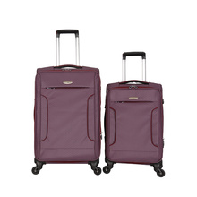 Fashion Polyester universal wheels Trolley luggage suitcase
