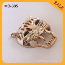 MB385 custom new fashion metal leopard garment label and tag
