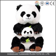 Comercio al por mayor Panda blanco y negro Panda Teddy Bear Doll Soft Panda Plush Toy