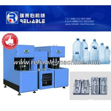 Machine de soufflage de bouteilles semi-automatique avec contrôle PLC