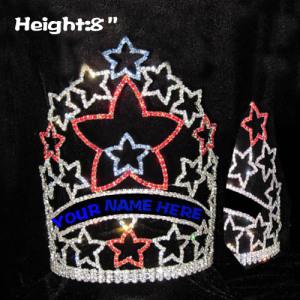 Coronas de cristal rojo blanco azul estrella - 4 de julio