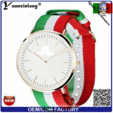 Yxl-491 Custom Design Logo Streifen Nylon Nato Strap Uhren Männer Marke Quarz Mode Sport Paar Dame Armbanduhren Armbanduhr