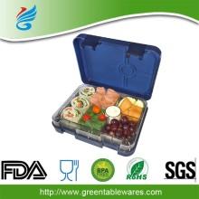 6 डिब्बे tritan पोर्टेबल बच्चों व्यक्तिगत bento बॉक्स भोजन तैयार करने का खाना खाने का डिब्बा