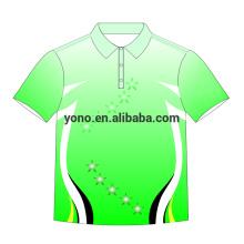2018 novo design personalizado camisa polo em branco