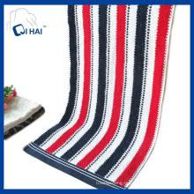 Чистая хлопчатобумажная пряжа окрашенная цветная лента для полотенец