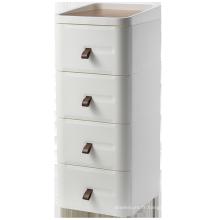 Table de chevet en bois de haute qualité avec quatre tiroirs