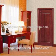 Conception de porte simple en bois intérieure porte unique design en bois porte intérieure en bois