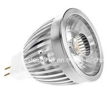 MR16 5W COB 350-390lm 3000k Éclairage blanc chaud LED Spot ampoule (12V)