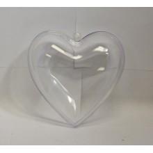 Em forma de coração caixa de plástico pequeno transparente