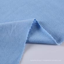Tissu en jersey de polyester de coton tricoté en gros