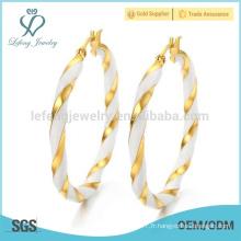 Grandes conceptions en argent sterling et boucles d'oreilles en or pour femmes