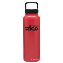 En acier inoxydable durable Sports vide bouteille rouge 40oz