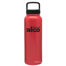 Durable Stainless Steel Vacuum Sports Bottle Red 40oz
