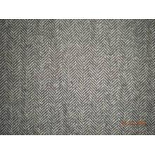 Tejido de lana en patrón de espiga de pez (Art # UW082)