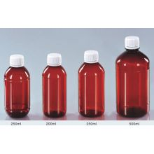 Amber Cough Syrup Bottle with Aluminium Screw Cap for Medicine
