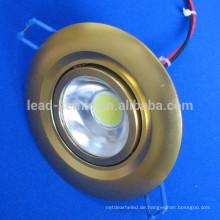 Cob LED-Aussparung montiert goldenen Licht unten