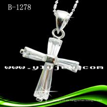 Colgante de la cruz de la manera con CZ (B-1278)