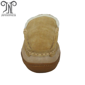 men winter house outdoor sheepskin moccasin slippers