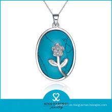 2014 Collar de la plata esterlina 925-- Joyería de la turquesa de Alaska