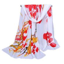 Nueva bufanda principal del hiyab de la gasa del árbol de la flor de la impresión digital del estilo clásico de lujo para la mujer musulmán
