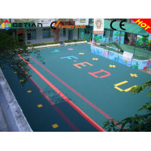 Multipurpose Kindergarten Flooring , Outdoor Playground Rubber Flooring Tile