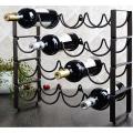 الحديد معدن زجاجة النبيذ الرف الرف