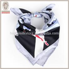 2015 простой шелк атлас квадратных леди шарф стюардесса равномерный шелковый шарф