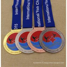 Médaillon fait sur commande de médaille de karaté de médaille en métal d'approvisionnement d'usine pour le concours de karaté
