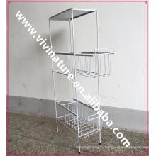 Chariot à tiroirs en métal VIVINATURE pour cuisine
