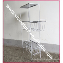 VIVINATURE metal drawers trolley for kitchen room