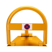 Durable And Portable Steel Folding Safety Parking Barrier, Manual Parking Space Lock/