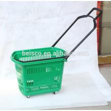 Panier à provisions en plastique de supermarché 45L