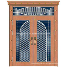 Mit dekorativer Bronzefarbe Eisen Stahl Sicherheit Kupfer Tür (W-GB-12)