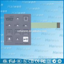 Shenzhen venta al por mayor 5 LED pantalla luces interruptor de membrana con línea