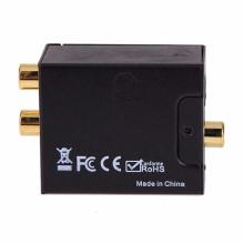 Adaptateur Convertisseur Numérique à Analogique Audio Adaptateur Coaxial RCA Toslink Signal vers Analogique Audio RCA Convertisseur