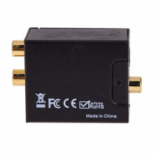 Digital to Analog Audio Converter Adapter Optic Coaxial RCA Toslink Signal to Analog Audio RCA Converter