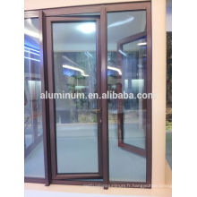 Portes coulissantes coulissantes bois-aluminium en porcelaine