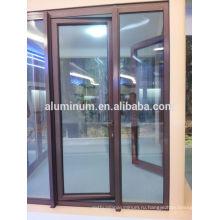 Стеклянные двери из дерева и алюминия