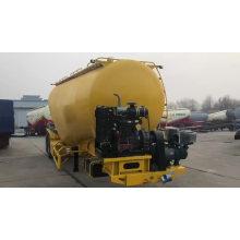 Semi-reboque tanque para pó de cimento em forma de V