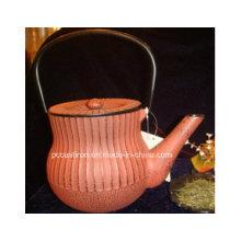 Painted Cast Iron Teapot