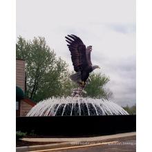 Outdoor-Gartendekoration Bronze Metall Handwerk große Adler Statuen
